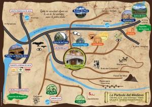 Mapa de actividades de turismo rural La Portada Del Medievo